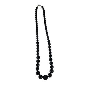 Black Faux Pearls Graduated In Size Resin Pearls